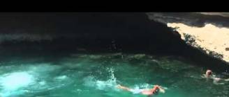 Dog Dives off Cliff in Malta
